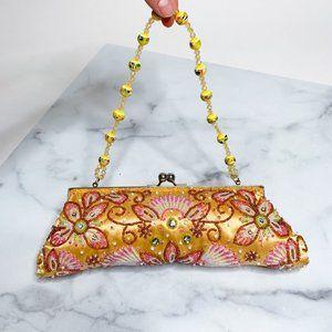 Vintage Kiss Lock Beaded Embellished Mini Bag